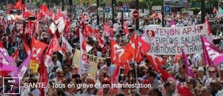 Grève dans les secteurs de la santé et de l'action sociale le 7 mars