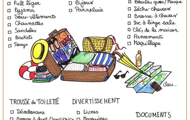 MA CHECK-LIST DE VALISE