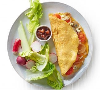 Omelette Pancakes with Garlic and Pepper Sauce