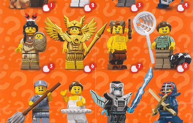 Minifigures Serie 15 incomplete 7/16