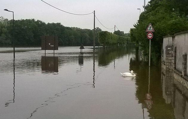 Inondations à Melun