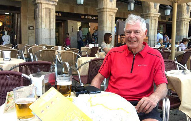 Me voici avec Paul, un cyclo Suisse Allemand, on se reverra