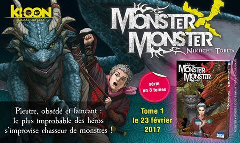 LE MANGA MONSTER X MONSTER ANNONCE CHEZ KIOON EDITIONS