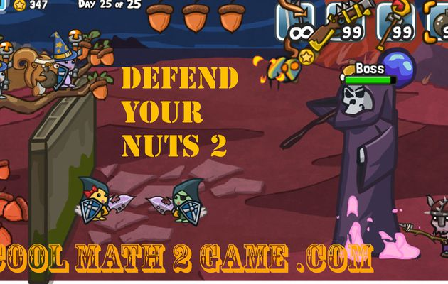 Defend Your Nuts 2 game free cool math 2 game
