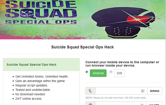 Suicide Squad Special Ops Hack Cheats Tool
