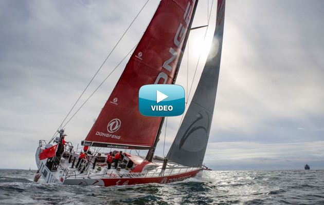 Video - a cool drone footage of Dongfeng Race Team on the water