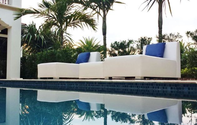 Luxury yachting and garden furniture created from reclaimed sea plastic...