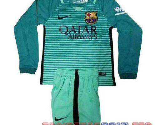 Camiseta manga larga niño Barcelona 2017 tercera 19.9€!!|camisetas baratas de futbol 14.9€!!