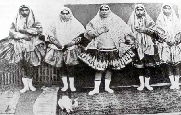 FOTOS: Así eran las bellas mujeres del harén de un Sha Persa