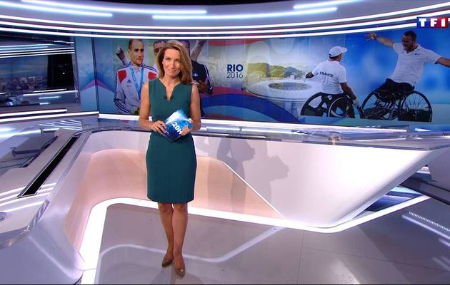 Anne-Claire Coudray JT 20H TF1 16.09.2016