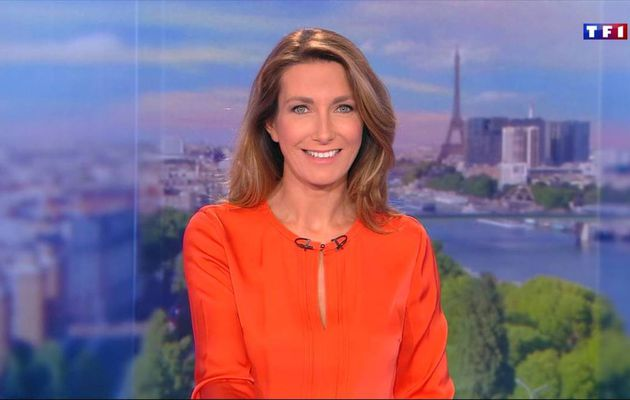 Anne-Claire Coudray JT 13H TF1 17.09.2016