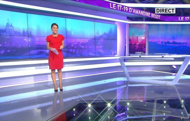 Amandine Bégot Le 17-19 Itélé le 26.09.2016