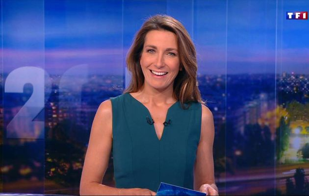 Anne-Claire Coudray JT 20H TF1 le 15.10.2016
