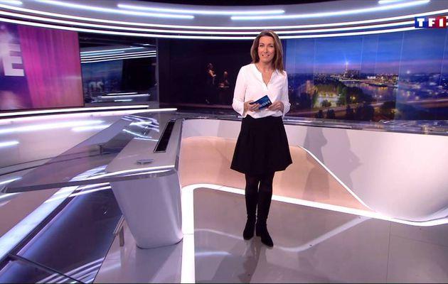 Anne-Claire Coudray JT 20H TF1 le 17.12.2016