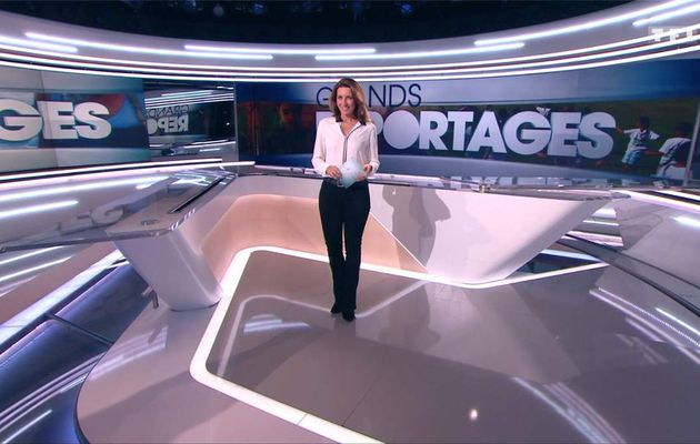 Anne-Claire Coudray JT 13H TF1 le 14.01.2017