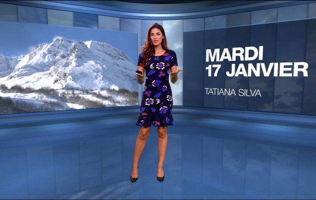 Tatiana Silva Météo M6 le 17.01.2017