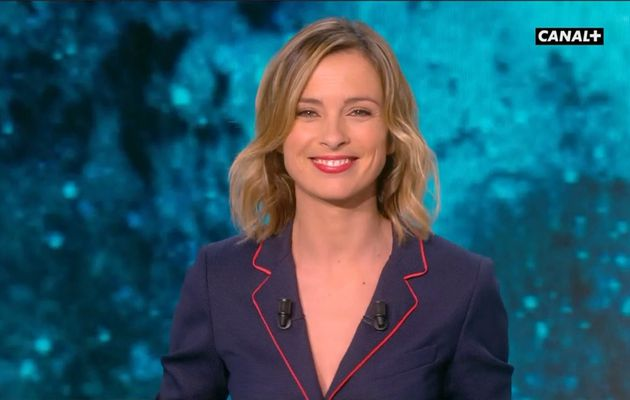 Isabelle Ithurburu Canal Rugby Club Canal+ le 19.02.2017
