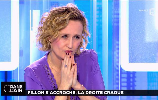 Caroline Roux C Dans l'Air France 5 le 01.03.2017