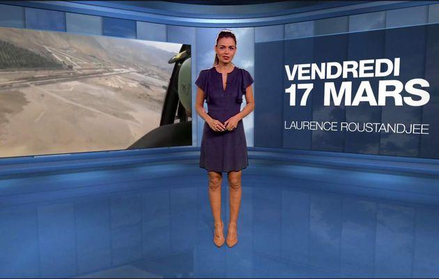 Laurence Roustandjee Météo M6 le 17.03.2017