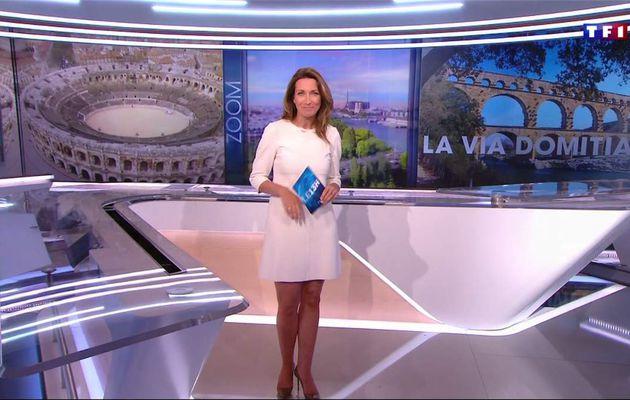 Anne-Claire Coudray JT 13H TF1 le 09.04.2017