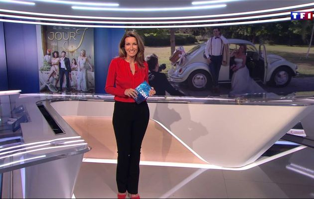 Anne-Claire Coudray JT 20H TF1 le 22.04.2017