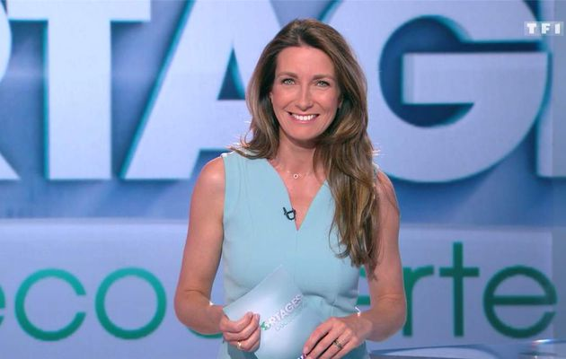 Anne-Claire Coudray JT 13H TF1 le 29.04.2017