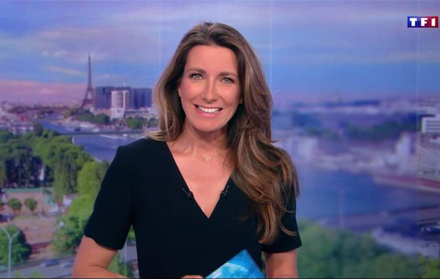 Anne-Claire Coudray JT 20H TF1 le 30.04.2017