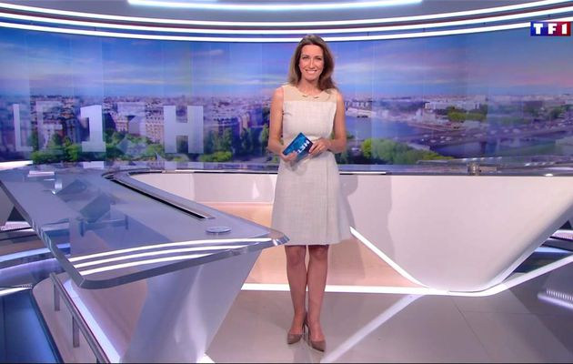 Anne-Claire Coudray JT 13H TF1 le 30.04.2017