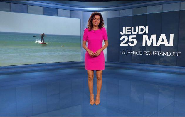 Laurence Roustandjee Météo M6 le 25.05.2017