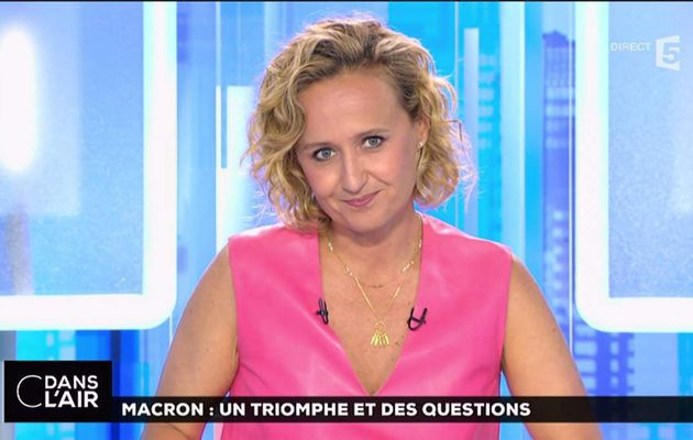 Caroline Roux C Dans l'Air France 5 le 12.06.2017