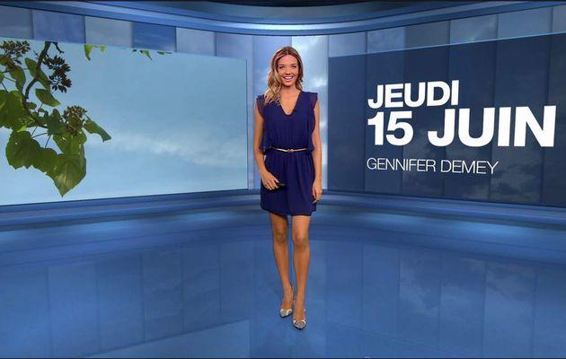 Gennifer Demey Météo M6 le 15.06.2017