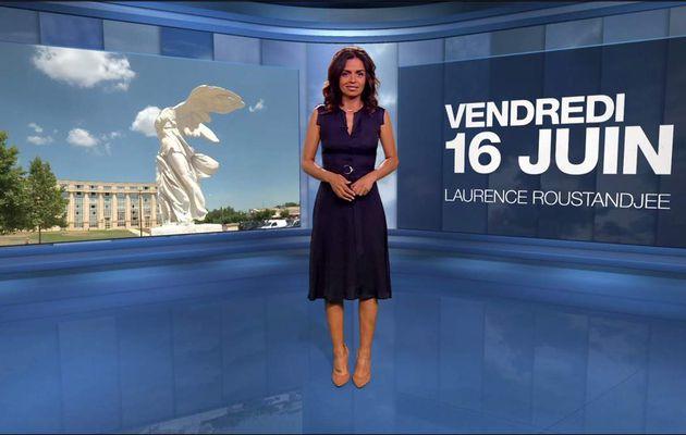 Laurence Roustandjee Météo M6 le 16.06.2017