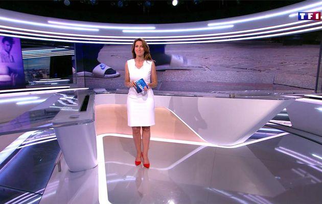 Anne-Claire Coudray JT 20H TF1 le 07.07.2017