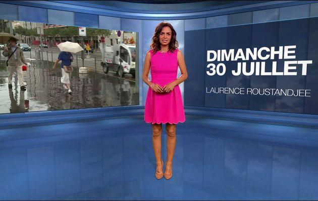 Laurence Roustandjee Météo M6 le 30.07.2017