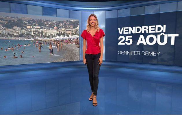 Gennifer Demey Météo M6 le 25.08.2017