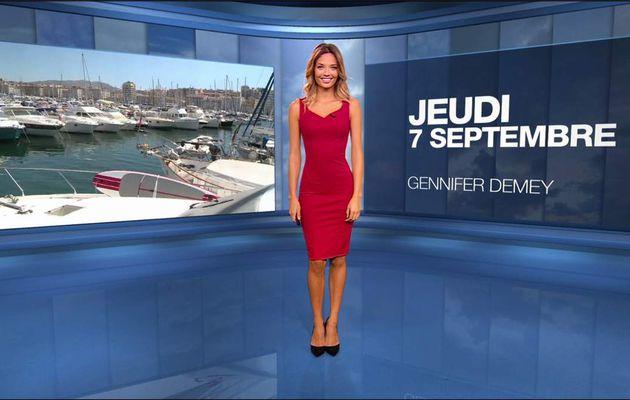 Gennifer Demey Météo M6 le 07.09.2017