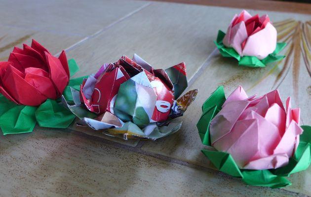 Tuto pour réaliser une fleur de lotus en origami modulaire...
