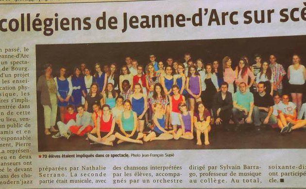 Spectacle Chorale et Danse Collège Jeanne D'Arc 2014
