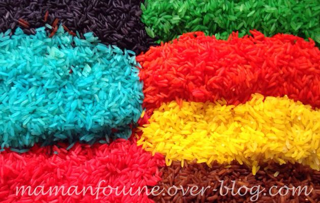 DIY : Riz coloré