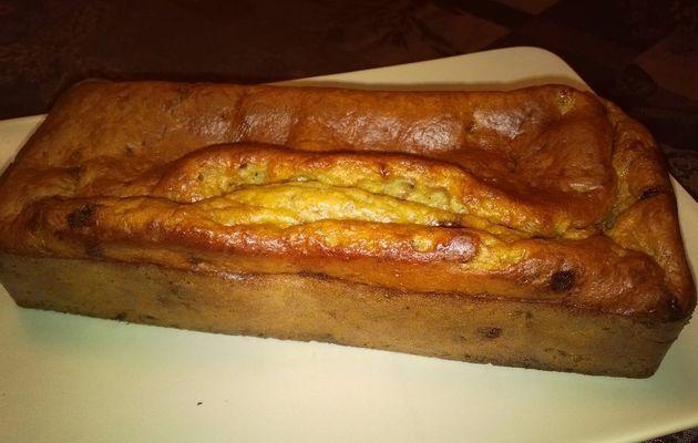 Banana Bread aux noix de pécan et pépites de chocolat au lait