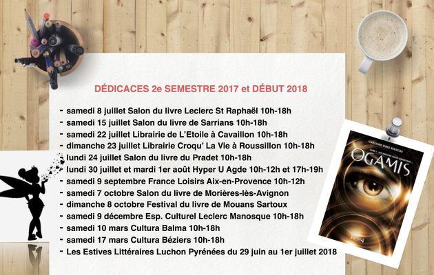 Dédicaces 2e semestre et 2018