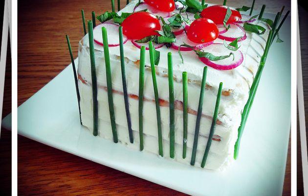 sandwich-cake au saumon ou gâteau salé