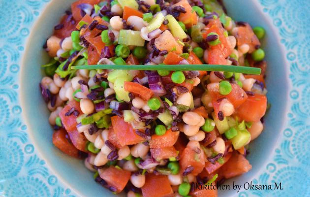 White Kidney Bean & Black Rice Salad