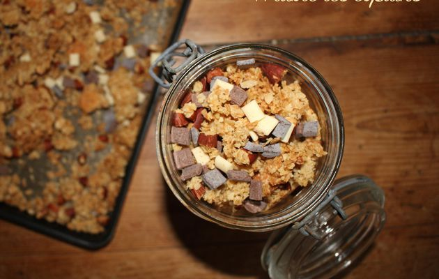 Granola noix de coco et 3 chocolats