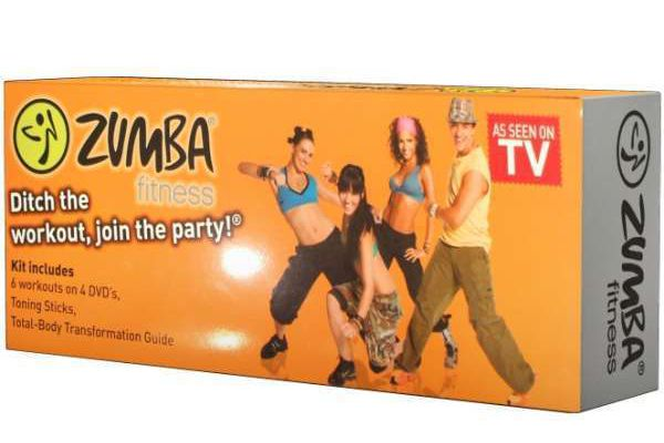 FI002 - Zumba fitness - pack 4DVD + haltères - 30€