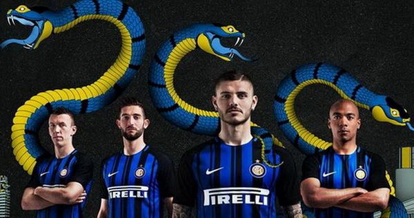 Maillots de foot Inter 2017 2018 Pas Cher