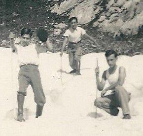 Les vacances des cousins ARDANUY LAUZE JARLIER-SYLVESTRE à MIJANES