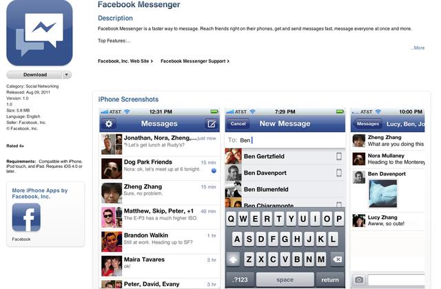 MOBILE. Avec son Messenger, Facebook veut remplacer les SMS