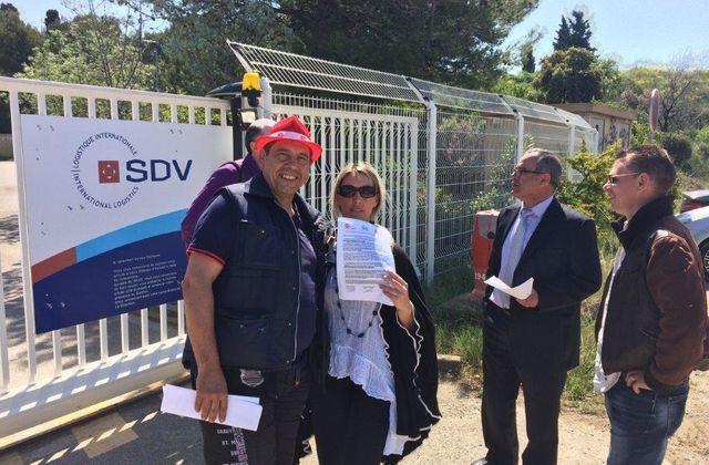SDV Marignane les élus FO se mobilisent pour informer les salariés