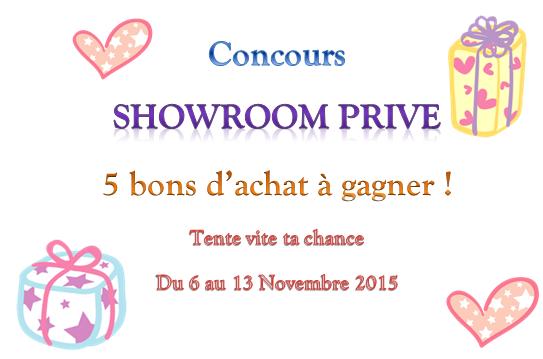 Gagne des bons d'achat ShowroomPrivé ! (5 gagnants)